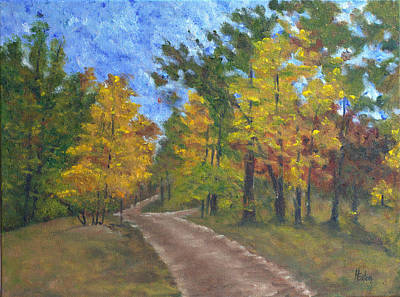 Painting - Fork In The Path by Helen Eaton