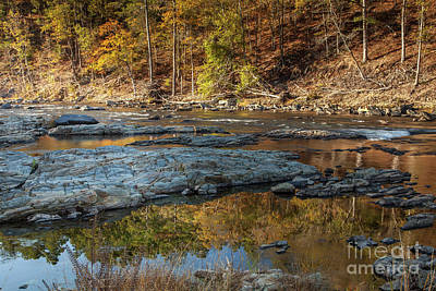 Art Print featuring the photograph Fork River Reflection In Fall by Iris Greenwell