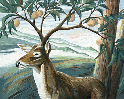 Painting - Forked Deer by Paula Blasius McHugh