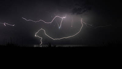 Photograph - Forked Lightning 2 Delray Beach, Florida by Lawrence S Richardson Jr