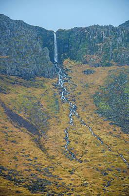 Photograph - Forked Waterfall Iceland by Deborah Smolinske
