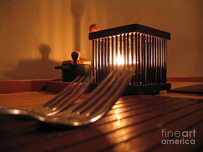Photograph - Forks And Candle by James B Toy