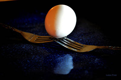 Photograph - Forks And Egg 2 Art by Lesa Fine