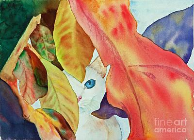 Painting - Forlorn Feline by Terri Mills