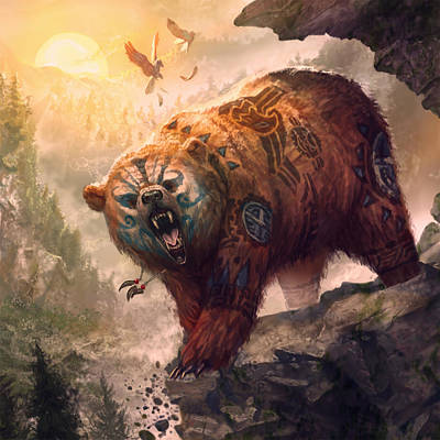 Forms Digital Art - Form Of The Bear by Ryan Barger