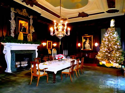 Photograph - Formal Dining At Christmas by Ed Weidman