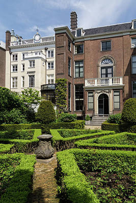 Photograph - Formal Garden - Sculpted Boxwood Hedges And Period Facades by Georgia Mizuleva