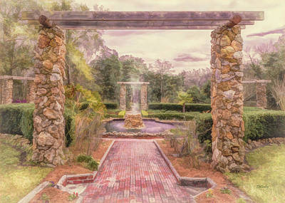 Photograph - Formal Garden Area Of Ravine Gardens State Park by John M Bailey