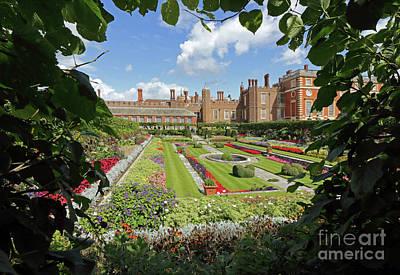 Photograph - Formal Garden At Hampton Court Palace by Julia Gavin
