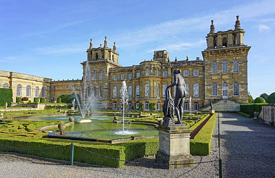 Pyrography - Formal Garden Blenheim Palace by Joe Winkler