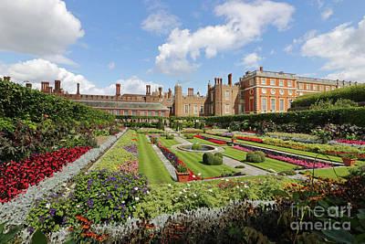 Photograph - Formal Garden Hampton Court Palace Uk by Julia Gavin
