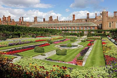 Photograph - Formal Gardens At Hampton Court Palace by Julia Gavin