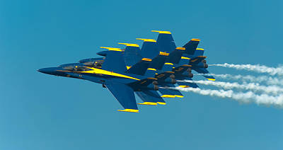 F-18 Photograph - Formation by Sebastian Musial
