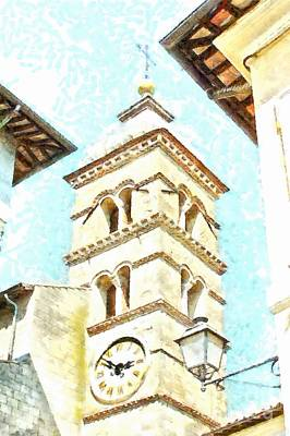 Photograph - Formello Bell Tower View by Giuseppe Cocco