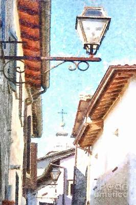 Photograph - Formello Street Lamp by Giuseppe Cocco