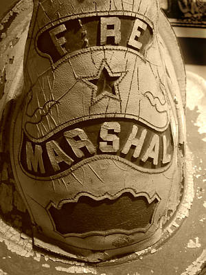 Photograph - Former Fire Marshal Hat by Mark J Seefeldt