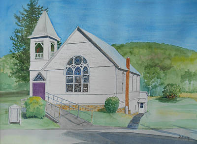Painting - Former Rush Church by Christine Lathrop