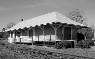 Photograph - Former Southern Railway Depot Bw by Joseph C Hinson Photography
