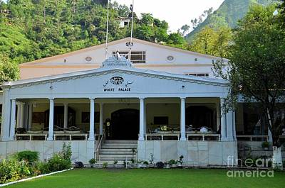 Photograph - Former Swat King White Palace Hotel Marghazar Swat Valley Pakistan by Imran Ahmed