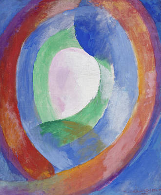 Lyrical Abstractions Painting - Formes Circulaires, Lune 1 by Robert Delaunay