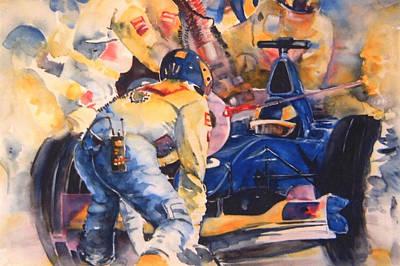 Sports Paintings - Formula 1 by Miki De Goodaboom
