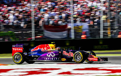 Formula 1 Monza Red Bull Art Print by Srdjan Petrovic