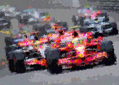 Painting - Formula 1 by Samuel Majcen