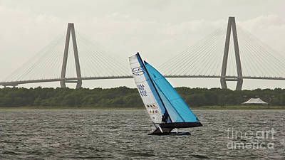 High Speed Photograph - Formula 18 Sailing Cat Big Booty Charleston Sc by Dustin K Ryan