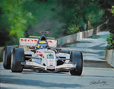 Sports Bar Art Painting - Formula One by Bill Dunkley