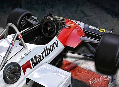 Formula One Digital Art - Formula One Car by David Kyte