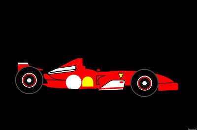 Formula One Ferrari Art Print by Asbjorn Lonvig