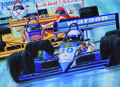 Canadian Sports Artist Painting - Formula1 Wall Mural by Hanne Lore Koehler