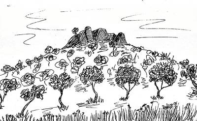 Tree Plantation Drawing - Fornes by Chani Demuijlder
