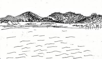 Drawing - Fornes Embalse De Los Bermejales by Chani Demuijlder