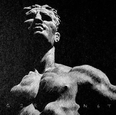 Male Nude Drawing Drawing - Foro Italico 5 by Grant Arnold Anderson
