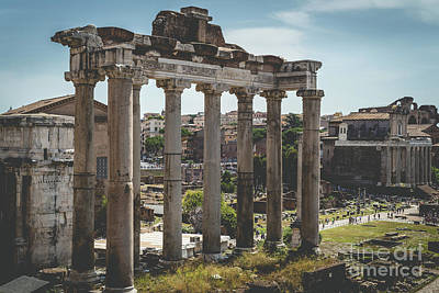 Photograph - Foro Romano, Rome Italy 2 by Perry Rodriguez