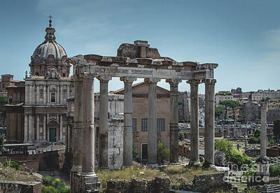 Photograph - Foro Romano, Rome Italy 3 by Perry Rodriguez
