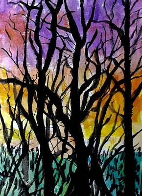 Painting - Forrest Abstract by Anne Sands