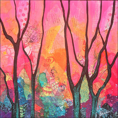 Iridescent Painting - Forrest Energy II by Shadia Derbyshire