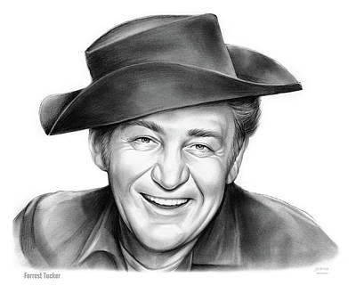 Drawing - Forrest Tucker by Greg Joens