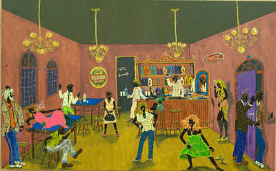 Prostitution Painting - Forrobodo by Luiz Roberto Rocha Maia