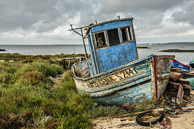 Mountain Landscape Royalty Free Images - Forsaken Fishing Boat Royalty-Free Image by Marco Oliveira