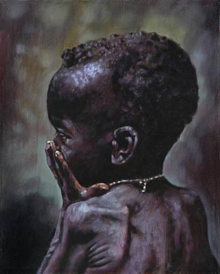 Starving Painting - Forsaken by John Lautermilch