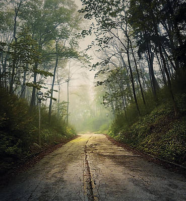 Eerie Photograph - Forsaken Road by Scott Norris