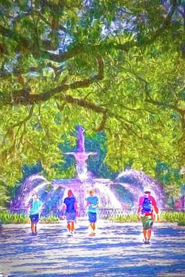 Photograph - Forsyth Fountain Captured by Alice Gipson