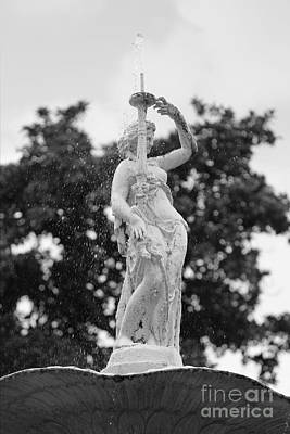 Forsyth Park Fountain - Black And White 2 2x3 Art Print