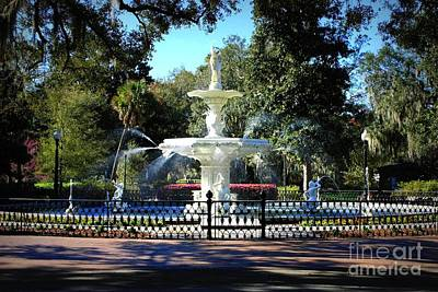 Photograph - Forsyth Park Fountain In Springtime by Carol Groenen