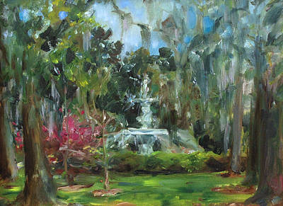 Forsyth Park Savannah Art Print by Ann Bailey