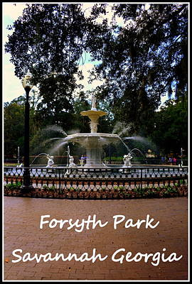 Photograph - Forsyth Park Savannah Georgia by Lisa Wooten