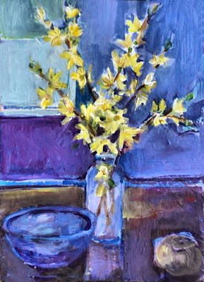 Painting - Forsythia  by Diane Ursin